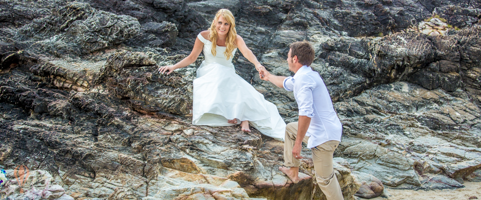 Beach Wedding North Burleigh Orange Sunshine Photography Gold Coast Wedding Photographers (1 of 1)